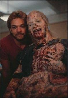 Greg Nicotero and Ted Raimi Evil Dead Movies, Special Effects Makeup Artist, Tom Savini, Makeup Masters, Fake Images, Walking Dead Zombies, Bruce Campbell, Horror Icons, Dark Beauty