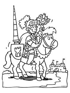 1000 images about ridders jonkvrouwen kleurplaten