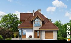 Elewacja frontowa projekt dom w rukoli n ver 2 264 Tuile, Home Fashion, Decoration, Home Projects, Cabin, Architecture, House Styles, Villas, Website