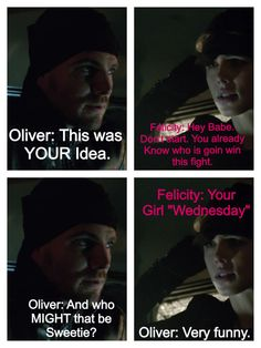 Olicity's future couple argument Aren't they cute  #Olicity #Arrow