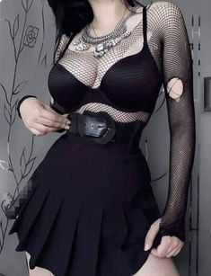 Best Edgy Outfits Part 4 Gothic Outfits, Edgy Outfits, Grunge Outfits, Cool Outfits, Fashion Outfits, Womens Fashion, Dark Fashion, Grunge Fashion, Gothic Fashion