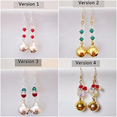 Fun and Unique Jingle Bells Holiday Earrings