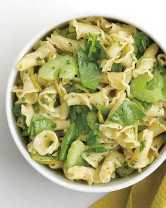 Spinach Pasta Recipes | Martha Stewart Living — Spinach may not give you Popeye strength, but it certainly packs a palatable iron-rich punch.