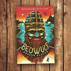 Tom Duxbury illustration for forthcoming Puffin Books re-issue of 'Beowulf: Dragon Slayer' by the great, but sadly dead, Rosemary Sutcliff Beowulf, Dragon Slayer, Beautiful Book Covers, Historical Fiction, The Guardian, Illustration, Books, Ideas, Art