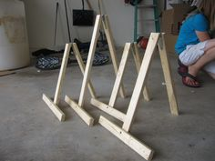 Simple to make table easel