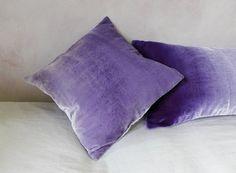 Velvet square cushion cover amethyst painted velvet by Colorbloom