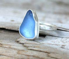 Sterling Silver jewelry  Cornflower Blue Sea by ChildrenofFlowers