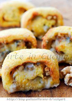 Girelle di patate al gorgonzola e noci panate vickyart arte in cucina