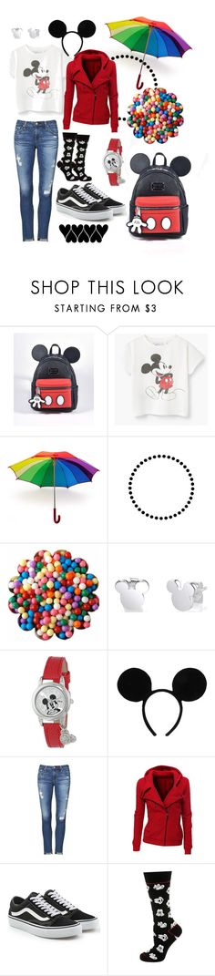 """""""Rainy Days at Disney ❤️"""" by melissarose13 ❤ liked on Polyvore featuring Loungefly, Burberry, Disney, AG Adriano Goldschmied, Vans, Cufflinks, Inc. and Camp"""