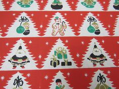 Unused Vtg 1960s Gift Wrapping Paper RETRO by DragonflyCottageShop