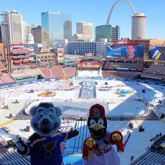01-02-17: NHL Winter Classic, Chicago Blackhawks vs St Louis Blues, Busch Stadium, St Louis, Missouri, Blues won 4-1.