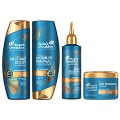 Head and Shoulders Royal Oils Moisture Boost Shampoo, Conditioner, Deep Moisture Masque and Scalp Cream with Coconut Oil Head And Shoulders Shampoo, Head & Shoulders, How To Lighten Knees, Beauty Regimen, Beauty Tips, Natural Hair Moisturizer, Hair Products, Beauty Products, Coily Hair