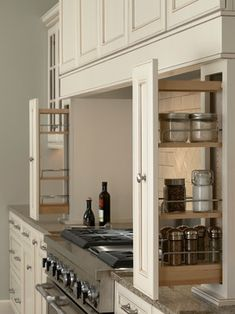 Wall Pull Outs - kitchen cabinets - minneapolis - Mid Continent Cabinetry