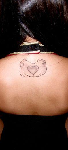 mickey hands heart tattoo