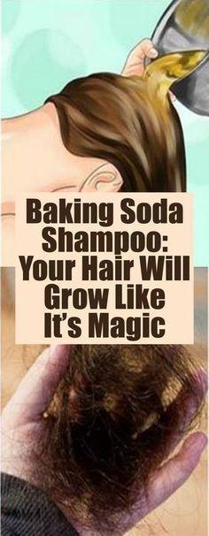 Thicker Hair Remedies Baking Soda Shampoo: Your Hair Will Grow Like It's Magic Natural Hair Care, Natural Hair Styles, Baking Soda Shampoo, Hair Quality, Hair Remedies, Hair Shampoo, Hair Health, Grow Hair, Hair Loss