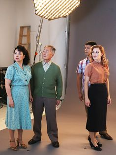Cast Photo Shoot of Allegiance with Lea Salonga, George Takei, Telly Leung & Katie Rose Clarke
