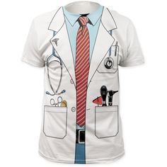 New Doctor Outfit Costume Stethoscope White coat T-shirt top adult Funny Cosplay, Cosplay Costume, Halloween Cosplay, 3d T Shirts, Printed Shirts, Site Mode, Doctor Costume, T Shirt Costumes, Coat