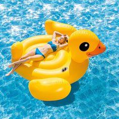 Jumbo Inflatable Pool Floating Duck Island Raft Giant Yellow Party Water Lounge | Home & Garden, Yard, Garden & Outdoor Living, Pools & Spas | eBay!