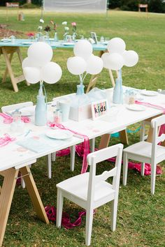 """Whimsical and fun """"kid table"""" for those who think kids should have their own space at weddings. Photography by ellenitoumpas.com.au, Floral Design by florabundaflowers.com.au"""