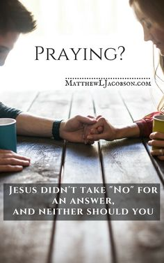 """Does prayer even work? We pray, ask God, and the opposite happens. What's that about? It seems that God often doesn't answer our prayers or often says, """"No"""". How do we pray effectively? How can we be sure God is listening? via @MatthewLJ"""