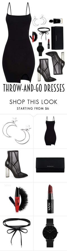 """""""#easydresses"""" by elenh-tata ❤ liked on Polyvore featuring Ana Accessories, Steve Madden, Givenchy, NYX, Thomas Sabo, CLUSE, Giorgio Armani, chic, black and polyvorefashion"""