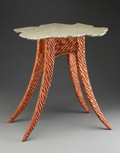 The Avery Indoor/Outdoor Side Table: Peter Dublanica: Wood & Stone Side Table | Artful Home