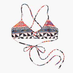 Mara Hoffman® Lace-Front Bikini Top in Pinwheel Poppy