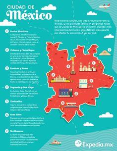 guía turística para Ciudad de México Mexico Tourism, Mexico Travel, Travel Info, Travel Guides, Mexico City Map, Mexico Culture, Tourist Map, Visit Mexico, Mexico Vacation