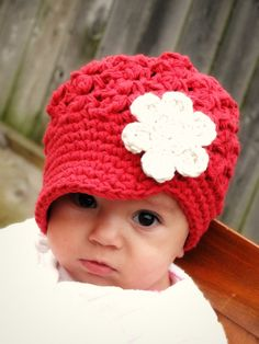 Crochet Baby Hat kids hat newsboy hat by JuneBugBeanies on Etsy, $20.00