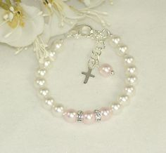 Baby Jewelry, First Pearl Bracelet, Baptism, Communion, Confirmation, Christening Jewelry, Flower Girl Jewelry on Etsy, $12.00