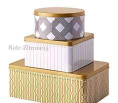 IKEA VINTERKUL Dosen 3 Set Geschenkbox Keksdosen Impression Shabby Box Keks | eBay