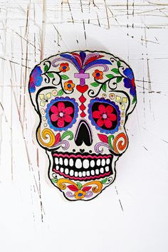 Sugar Skull Cushion from Urban Outfitters - I love anything with skulls especially sugar skulls, so this cushion is perfect for me. Wonder if it would work in my house hmmmm