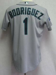 c19aea26aa5 2012 Seattle Mariners Rodriguez #1 Game Issued Gray Away Jersey - Game Used  MLB Jerseys by Sports Memorabilia. $156.13. 2012 Seattle Mariners Rodriguez  #1 ...