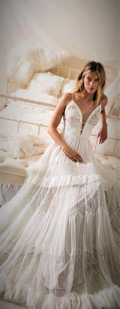 Wedding Dress by Lihi Hod 2018 Collection #weddingdress #lihihod #bridalgown #weddingtrends #trends2018