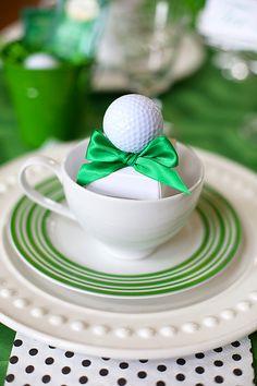Throw a golf themed tee party