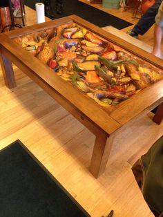 Big Sky Carvers William Herrick Trout Stream Coffee Table