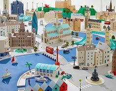 Consultez ce projet @Behance: \u201cPaper Cities\u201d https://www.behance.net/gallery/18845803/Paper-Cities