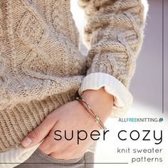 Most beginning knitters start with the goal of learning how to knit a sweater, and the Oats and Honeycomb Cabled Pullover is a great one to work towards. Knit in a neutral shade to show off its cabled texture, this sweater is great for everyday wear.