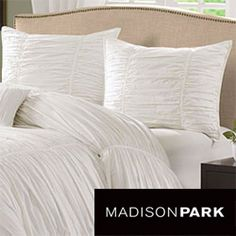 Madison Park Catalina (aka white, which is a little off-white) 4-piece Duvet Cover Set