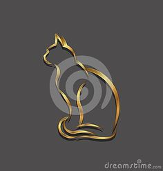 Cat Golden Logo Line Image. Stock Vector - Illustration of domestic, foil: 51670700 Line Images, Golden Logo, People Logo, Horse Logo, Logo Creation, Dog Logo, Animal Logo, Logo Nasa, Vector Graphics