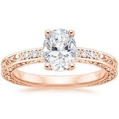 Oval antique rose gold engagement Ring I've decided that I like channel-set stuff!
