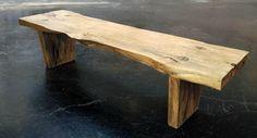 Live Edge Wood Bench