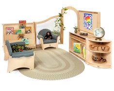 Sometimes you need a dependable solution for a classroom area—fast. Roomscapes Sets help you transform wide open spaces into cozy corners and appealing niches in the twinkling of an eye. Reggio Classroom, Classroom Design, Classroom Decor, Preschool Classroom, Classroom Layout, School Furniture, Kids Furniture, Furniture Sets, Corner Furniture