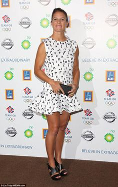 Monochrome maven: Windsurfer Bryony Shaw went for a very fashionable look in a white drop-...