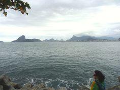 Praia de Boa Viagem com neblina na vista para o Rio de Janeiro: Corcovado e Pão de Açucar / Niterói / RJ / 2014