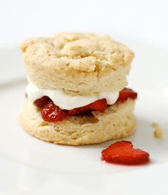 Crumbly biscuits are the perfect base for juicy strawberries. Get the recipe from Love & Olive Oil.   - Delish.com