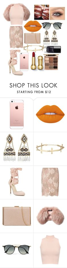 """Untitled #14"" by queen406 ❤ liked on Polyvore featuring Lime Crime, Shourouk, Miss Selfridge, Dorothy Perkins, Steffen Schraut, Ray-Ban, WearAll and Stila"