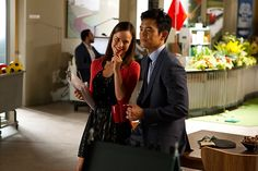 Steven chats with Carrie #JohnCho #GoOn