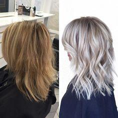 Before & after #babylights #hairpainting #brightblonde #beigeblonde #ashblonde #prettyhair #makeover #transformation #blondehair #hairinspo
