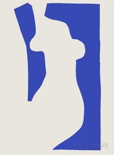 Verve - Nu bleu V Reproductions de collection par Henri Matisse sur AllPosters.fr